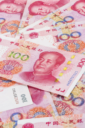 Background collage of Chinese Rmb bank notess Stock Photo
