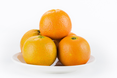 the orange on white background