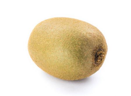 actinidia deliciosa: Ripe kiwi frui isolated on white background