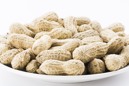 goober peas: peanut on white background