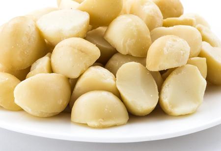 Macadamias on White background