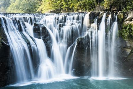 Closeup waterfall, Shifen Waterfall, New Taipei, Taiwan