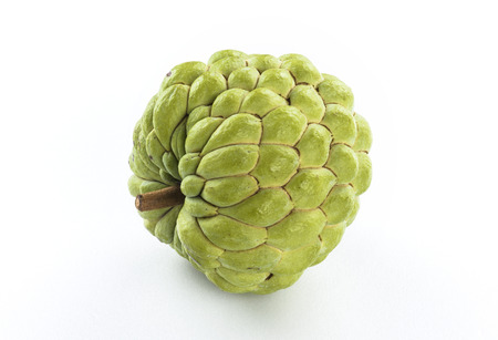 Ripe Sugar Apple fruit isolated on white background Stock Photo