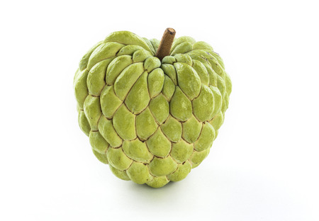 Ripe Sugar Apple fruit isolated on white background Archivio Fotografico