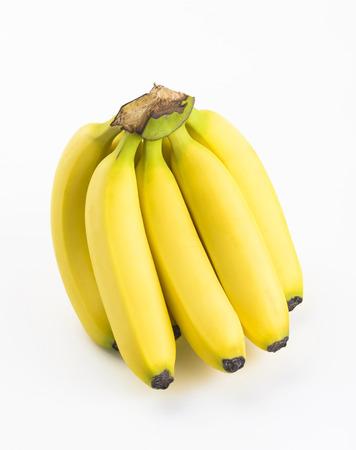 banana skin: bananas isolated on white background