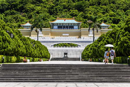 Entrance of Taiwan National Palace Museum in Taipei, TAIWAN.
