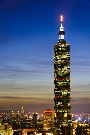 Taipei 101 Skyscraper in Taipei, TAIWAN.