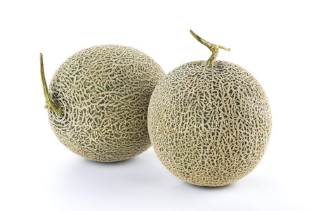 cantaloupe melon isolated on white background Stockfoto