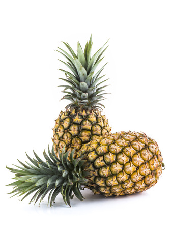 pineapple close-up isolated on a white background