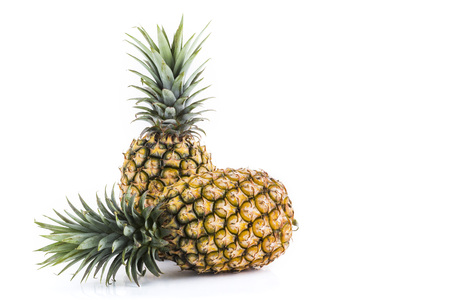 Pineapple close-up isolated on a white background 写真素材