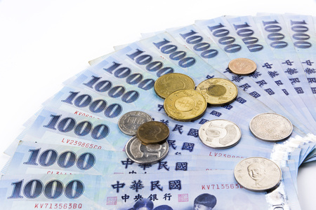 Closeup of Taiwanese currency Stock Photo