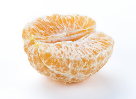 The orange close up on a white background 写真素材