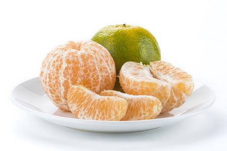the orange on white background