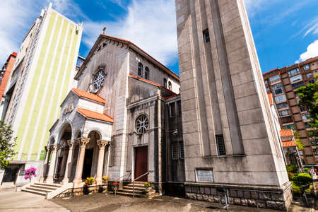 The St. Teresa's Church was built Romanesque style Architectural Design, it is a special landmark in Hong Kong. The St. Teresa's Church building in Kowloon, Hong Kong.