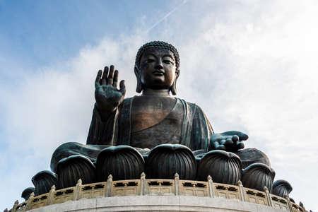 Tian Tan Buddha or Giant Buddha statue at Po Lin Monastery Ngong Ping, Lantau Island, Hong Kong, China.