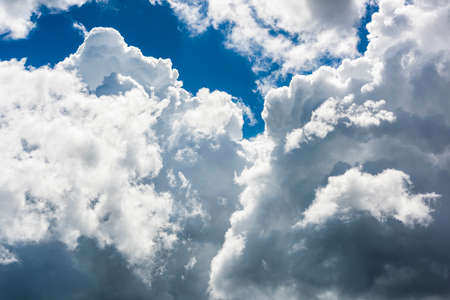 Beautiful clouds with the blue sky background