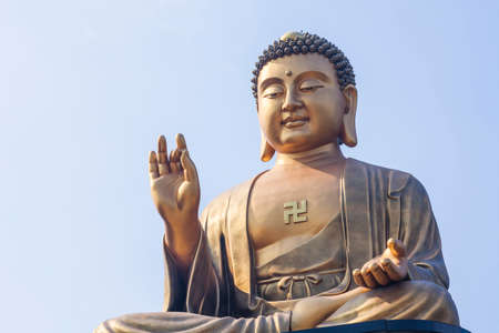 The giant Buddha statue at Fo Guang Shan in Kaohsiung, Taiwan Editorial