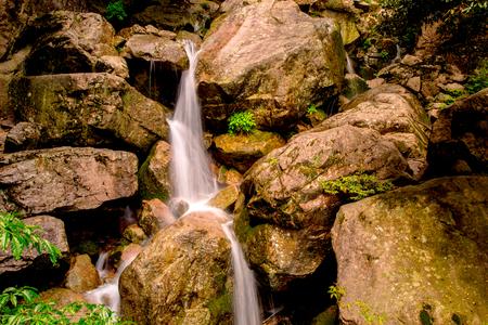 Mountain waterfall view
