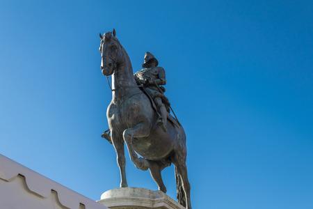 Monument to Felipe III in the Plaza Mayor of Madrid