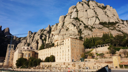 conglomeration: Santa Maria de Montserrat Abbey in Catalonia
