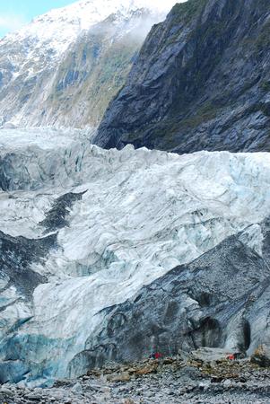 fox glacier: Fox Glacier, Paparoa National Park, South Island, New Zealand. Stock Photo