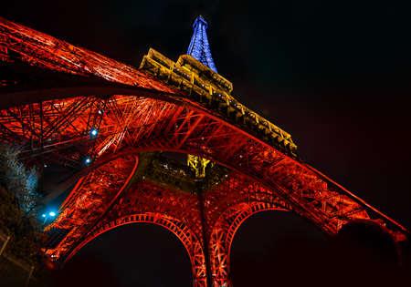 Eiffel Tower Light Performance, Lit up show.