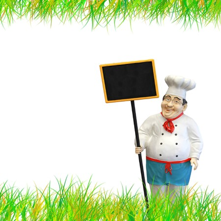 Expert chef with black menu