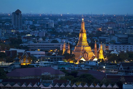 Old Temple in Bangkok, Thailand Stock Photo