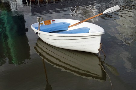 shallop: White Boat in the park