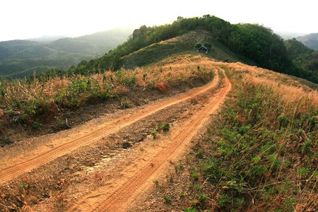 Off road track photo