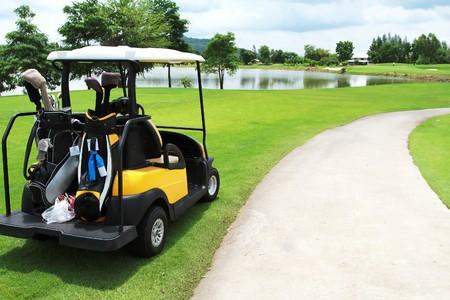 Green Golf Carts  Stock Photo