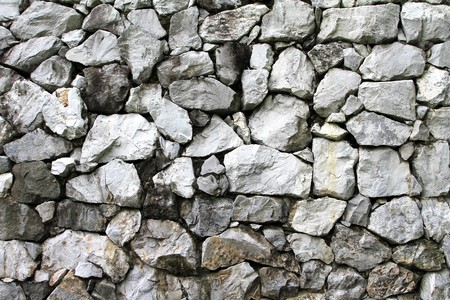 floor level: stone background wall