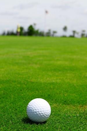 ceramic golf ball on green grass