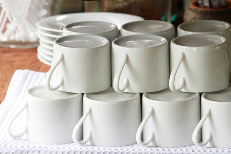 vectorrn: Coffee cup set on table
