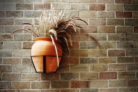 Old grasspot on brick wall Stock Photo - 7651954