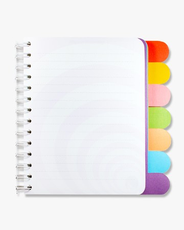 lined: Isolated note book on white background