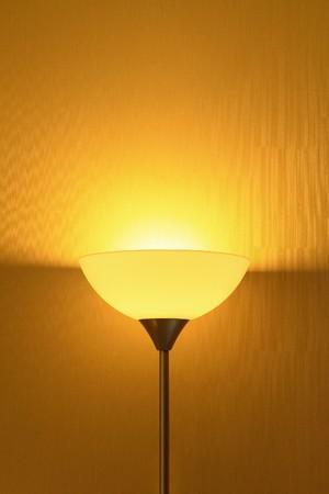 Lamp in darkened room Stock Photo - 7894878