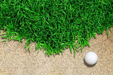 Golf Ball on the Grass photo