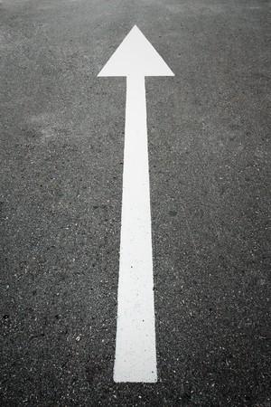 Road arrow direction  Stock Photo - 7894911