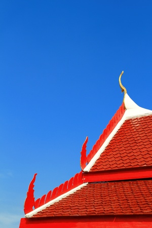 Roof of thai temple photo