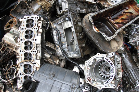 Part of car engine photo