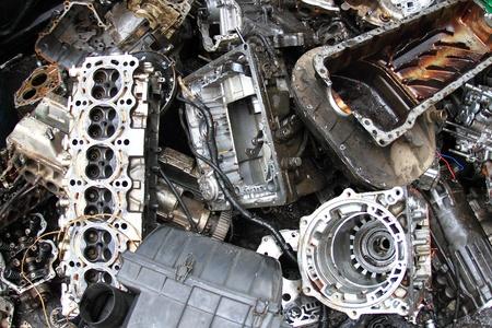 Part of car engine photo