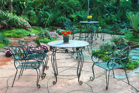 Garden table and chairs Stock Photo - 9857859