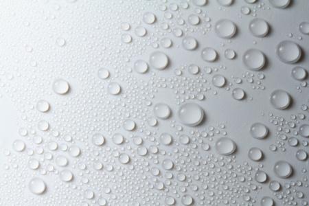 Rain drop on white background Stock Photo
