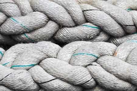 White rope on ground  photo