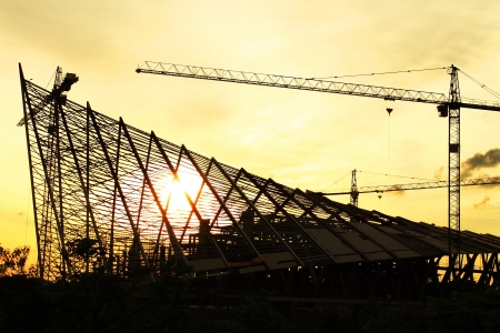 andamios: Edificio en construcci�n