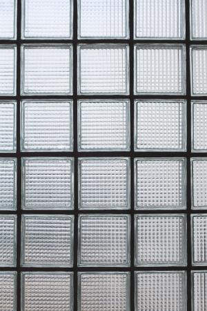 tiled wall: Glass block wall