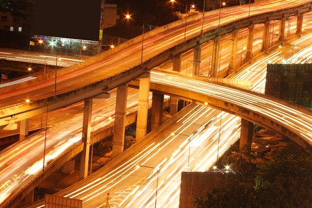 Highway in the city of thailand photo