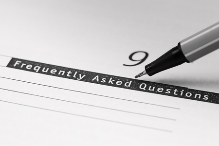 Opened book with word,Frequently asked questions. Stock Photo - 10273604
