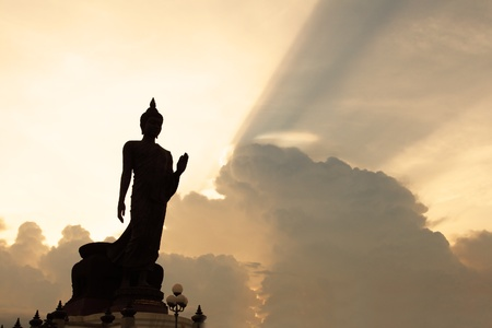 historical sites: Buddha statue in Thailand Stock Photo